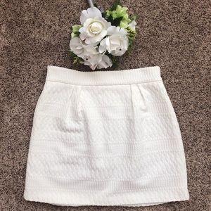 White Anthropologie Mini Skirt